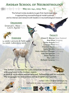 Flyer-AndeanSchoolNeuroethology-Peru2015