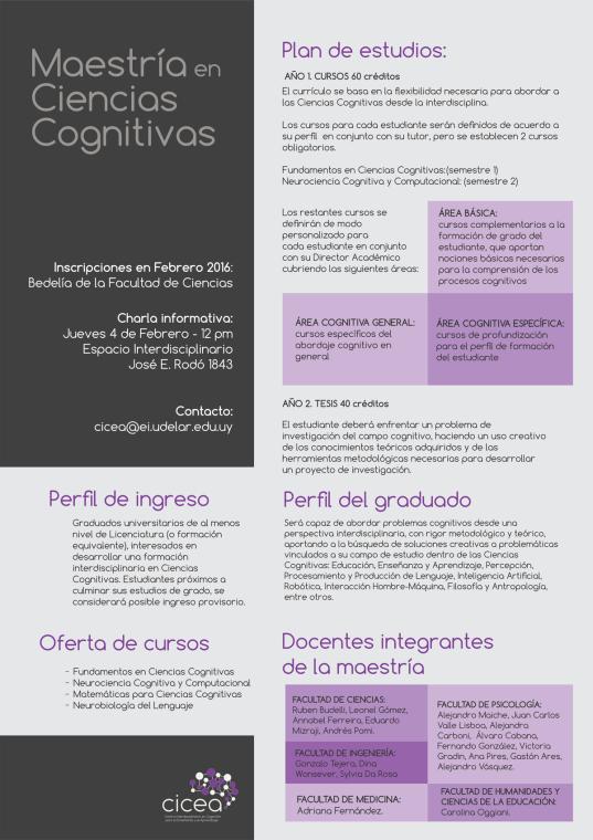 maestria Ciencias Cognitivas