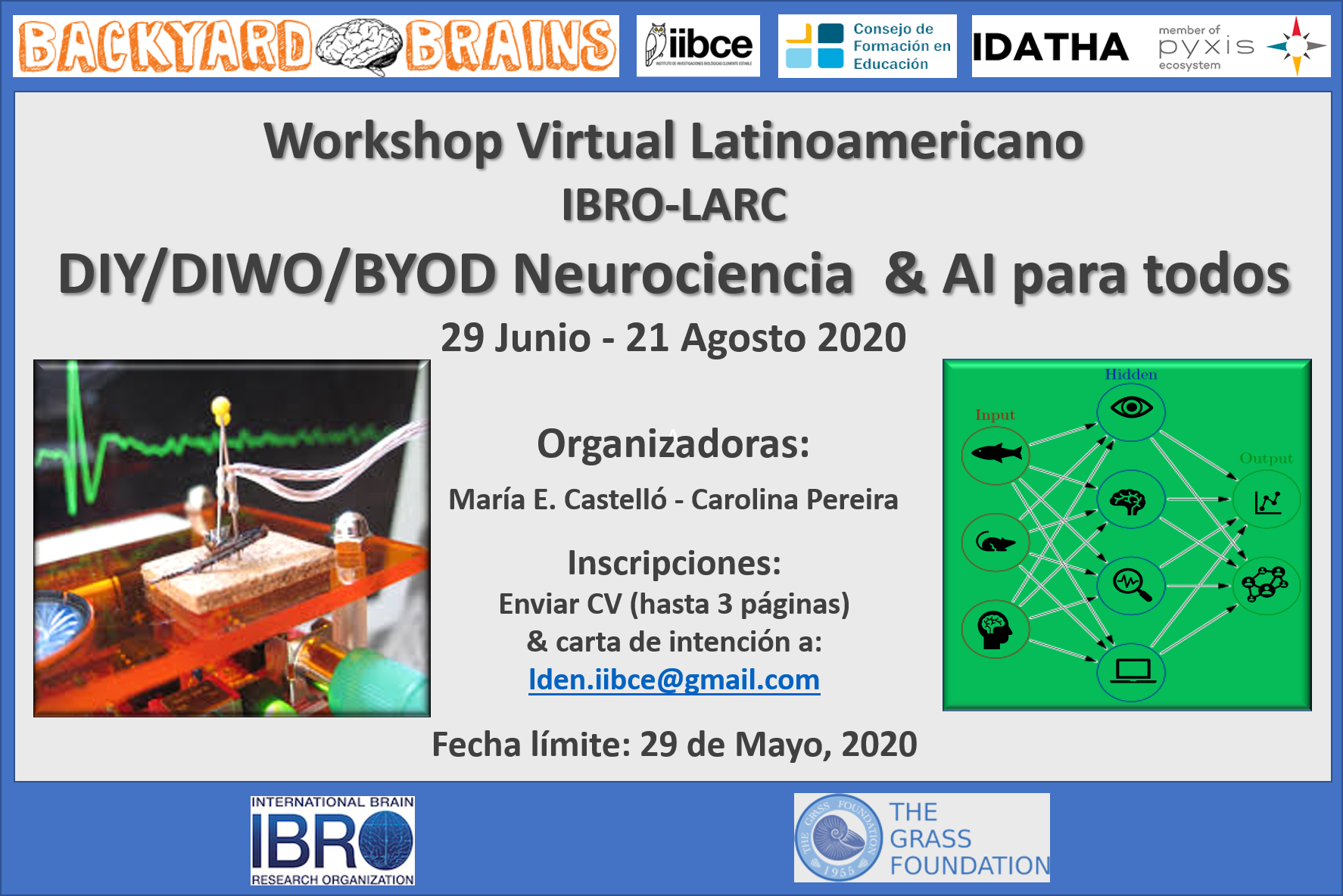 Afiche Workshop Virtual DIYNeuroscience 2