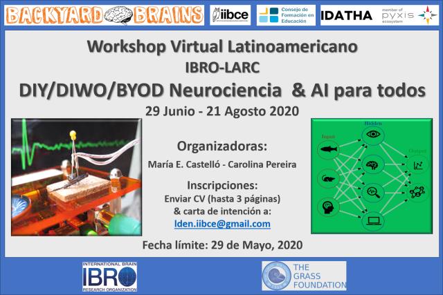 Afiche Workshop Virtual DIYNeuroscience 2